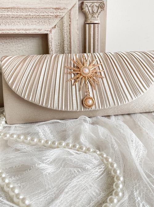 Retro Satin Elegant Classic Lolita Satin Pleated Handbag