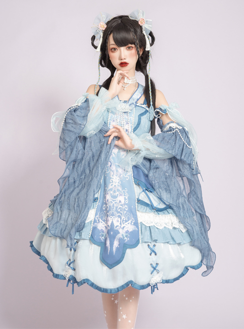 Phoenix Chirping Series JSK Chinese Style Classic Lolita Sling Dress