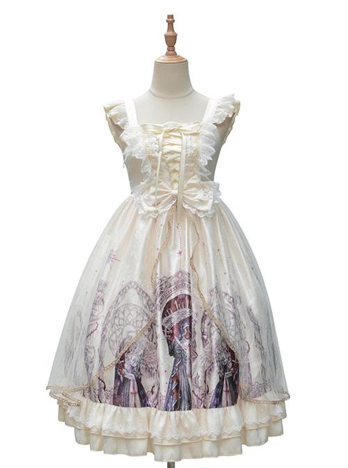 Guardian Series JSK Printing Classic Lolita Sling Dress