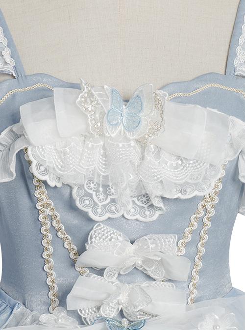 Flower Marriage Series JSK Elegant Gorgeous Classic Lolita Tea Party Sling Dress