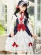 Snow White Slight Flower Marriage JSK Gorgeous Court Classic Lolita Sling Dress