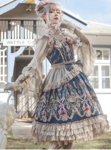 Fairytale Town Dance Party Series JSK Tea Party Classic Lolita Sling Dress