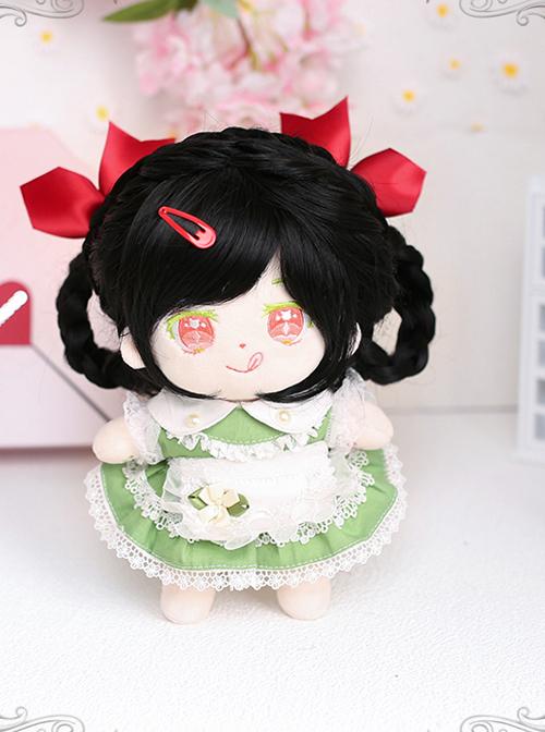 Cotton Doll 20cm Cute Doll Lolita Accessories Mini Sylvia Black Long Curly Wigs