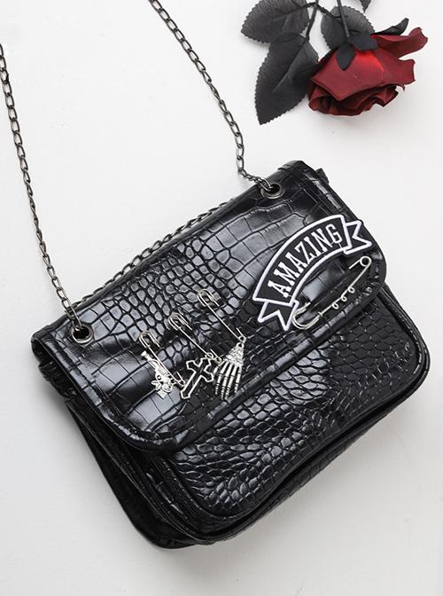 Locomotive Style Cool Hot Girl Style Punk Lolita Black Shoulder Bag