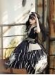 Pirate Boat Series OP Retro Irregular Big Hem Punk Lolita Short Sleeve Dress