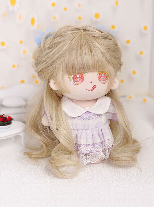 Cotton Doll 20cm Cute Doll Lolita Accessories Little Tara Golden Curly Doll Wigs