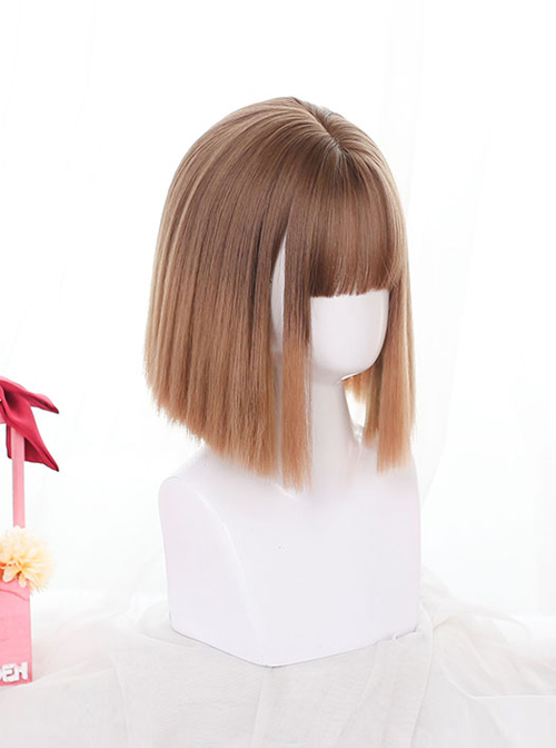 Gradient Short Straight Wig Classic Lolita Daily Style Wigs