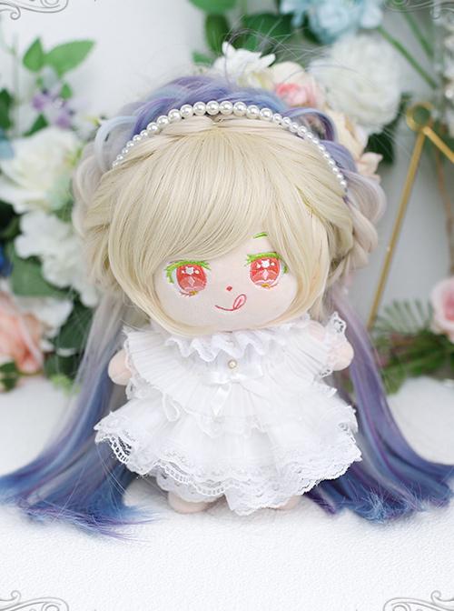 Cotton Doll 20cm Cute Doll Lolita Accessories Little Dream Aurora Color Multicolor Gradient Doll Wigs