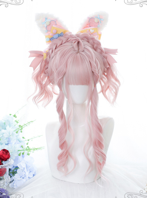 Cute Strawberry Daily Gentle Pink Long Curly Wig Sweet Lolita Wigs