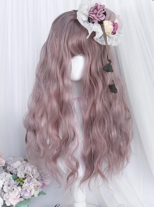 Thin Rattan Pink Long Wool-curly Wig Classic Lolita Wigs