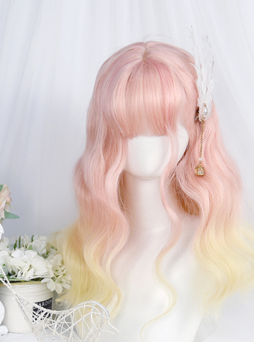 Cute Medium Length Wool-curly Wig Sweet Lolita Wigs
