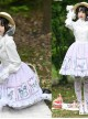 Gentle Butterfly Printing Classic Lolita White Lace Purple Skirt