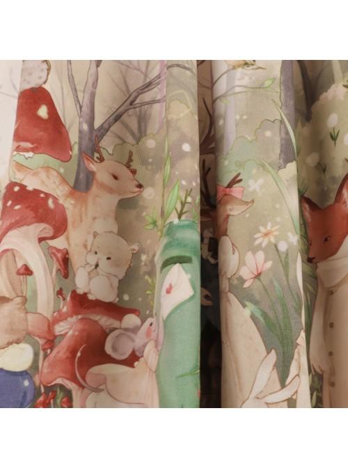 Little Raccoon Series JSK Autumn Winter High Waist Sweet Lolita Sling Dress