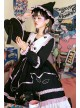 Magic House Series OP Cute Little Devil Cat Ears Pointed Collar Gothic Lolita Halloween Long Sleeve Thick Dress