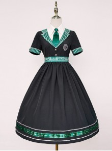 Magic Academy Series Daily Version OP Halloween Small High Waist School Lolita Short Sleeve Dress