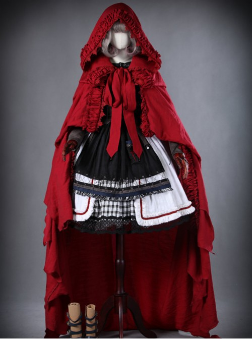 Gray Violet Little Red Riding Hood Lolita into a full set (no boots)