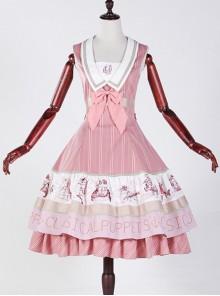 Classical puppets Muscle Aquarium pink lolita JSK