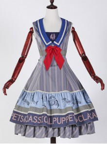 Classical puppets Muscle Aquarium blue gray lolita JSK