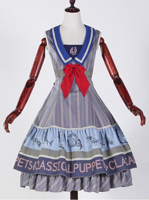 Classical puppets Muscle Aquarium blue gray lolita JSK