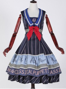 Classical puppets Muscle Aquarium purple lolita JSK