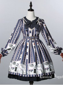 Classical doll to travel it! Blue-blue Lolita OP