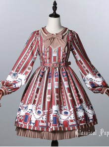 Classical doll to travel it! Wine red Lolita OP
