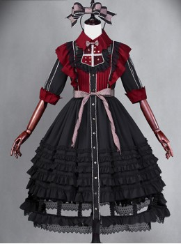 Dark Alice Lolita Black-red 13 fullset