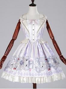 Taro purple poker two pieces of vest skirt Lolita JSK