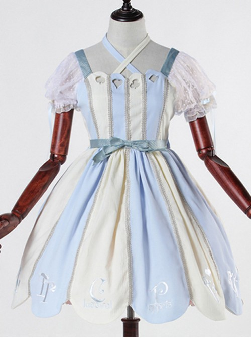 Blue white Alice 12OP classical doll classical puppets lolita