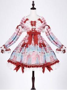 Crisp breast tea girl breasts small high waist toffee cotton candy lolita OP