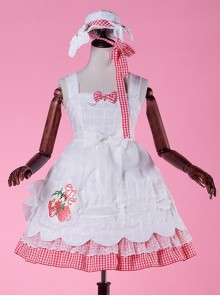 Come eat me! White chiffon Lolita Jumper Skirt