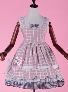 Come eat me! Pink Chiffon Lolita Jumper Skirt
