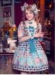 The Girl's Breasts Half Sleeve Little High Waist Whisky Heart Chocolate Lolita Dress