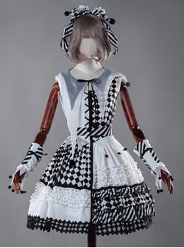 Black And White Clown Girl Lolita Full-set