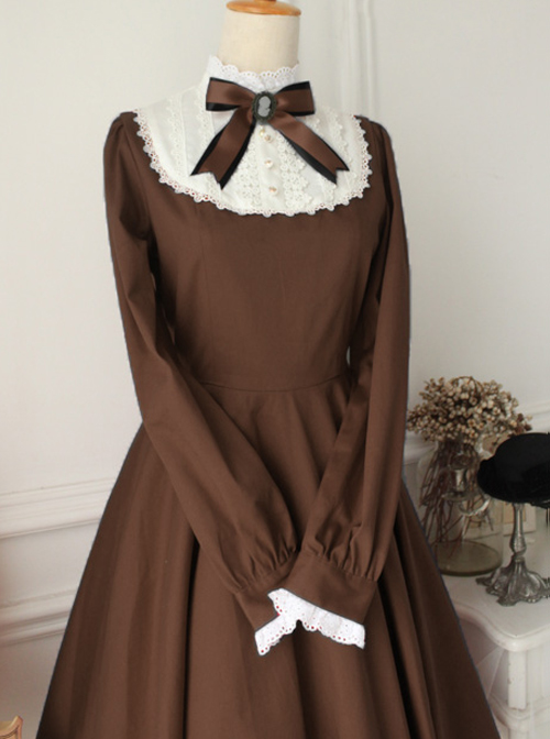 Old Castle Girl Series Retro Classical Classic Lolita Long Sleeve Dress