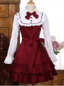 Retro Palace Style Flounced Sweet Lolita Long Sleeve Dress