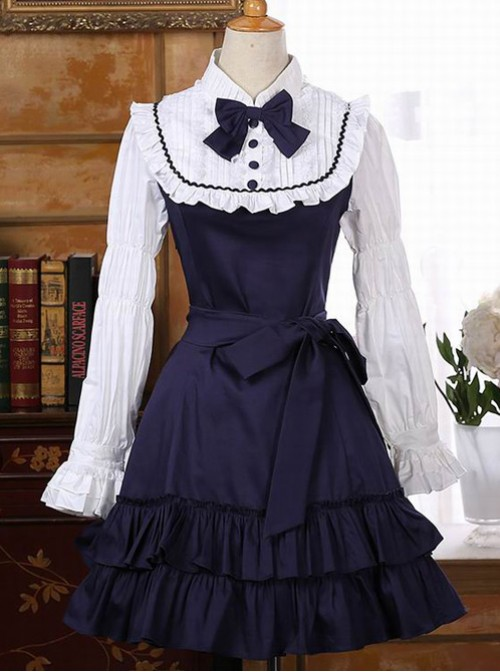 Retro Palace Style Flounced Sweet Lolita Long Sleeve Dress