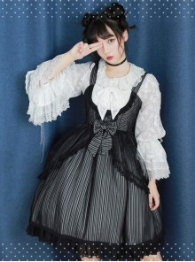 Soft Stripe Chiffon Sweet Lolita Sling Dress