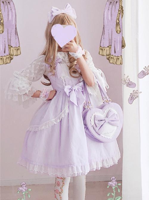 Soft Stripe Chiffon Sweet Lolita Sling Dress