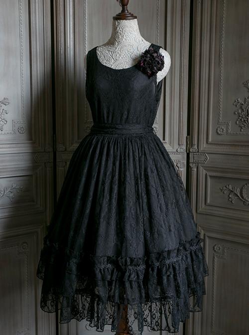 Retro Round-neck Lace Sleeveless Classic Lolita Dress