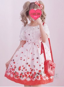 Chocolate Strawberry Sweet Lolita Sling Dress