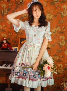 Magic Tea Party Ice Cream Party Series Short Sleeve Sweet Lolita Dress