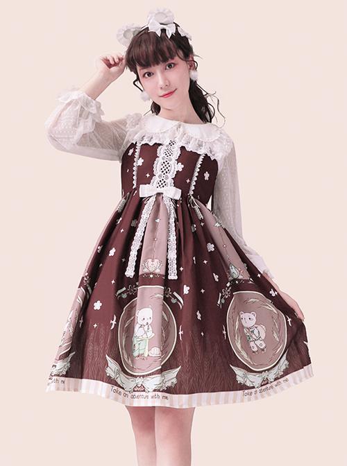 The Little Bear's Adventures Series Sweet Lolita Sling Dress