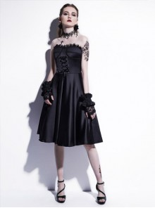 Fashion Sexy Black Strapsless Dress Gothic Lolita Dress