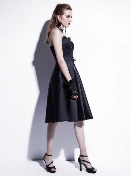 Fashion Sexy Black Strapsless Dress Gothic Lolita Dress