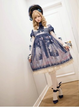My First Love Series Flower Cake Classic Lolita Long Sleeve Dress