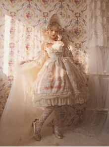 My First Love Series Flower Cake Classic Lolita Sleeveless Dress First Version