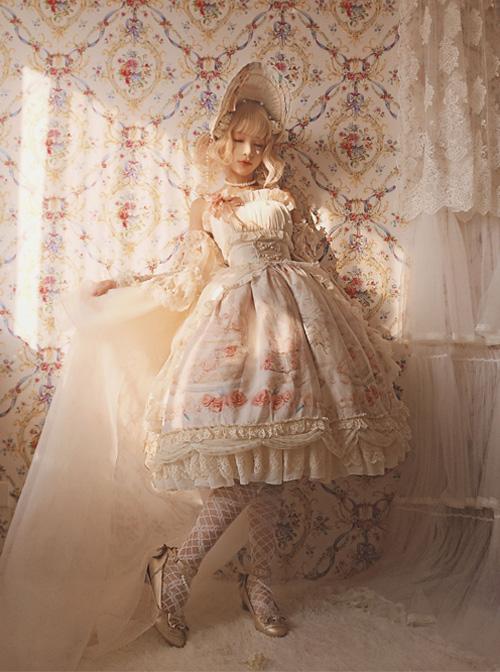 My First Love Series Flower Cake Classic Lolita Sleeveless Dress First Version