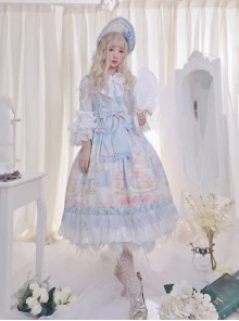 My First Love Series Flower Cake Sweet Lolita Sleeveless Dress Second Version