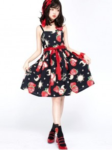 Strawberries Floating In The Universe Series Normal Waist Version Sweet Lolita Sleeveless Dress